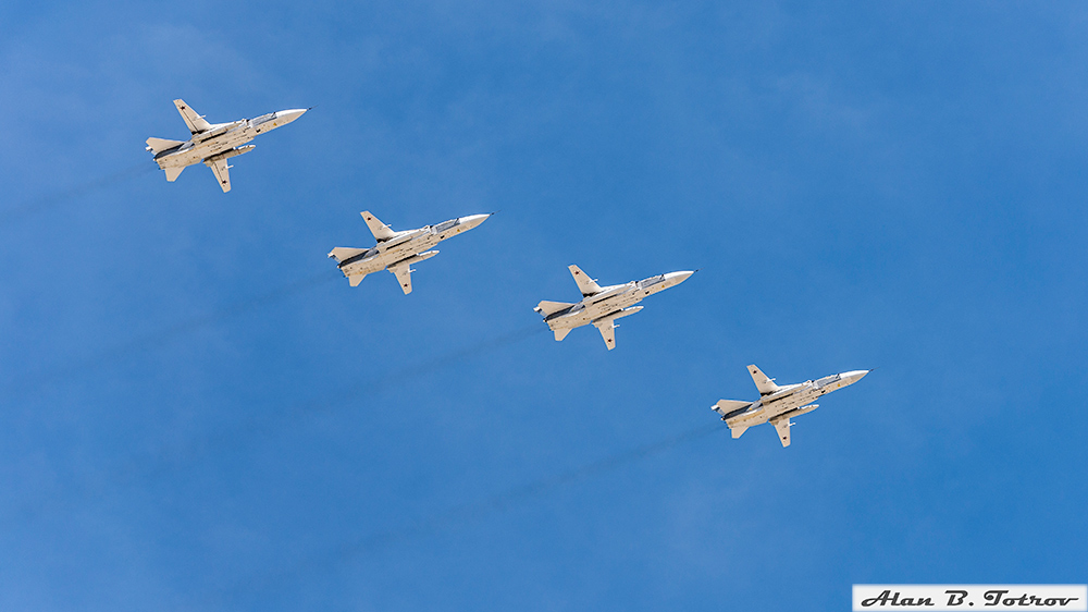 Фронтовые бомбардировщики Су-24
