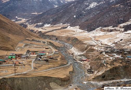 Фиагдон: высохшая река