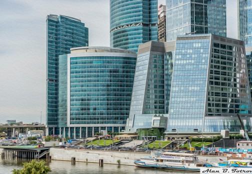 Картина маслом: «Москва Сити»
